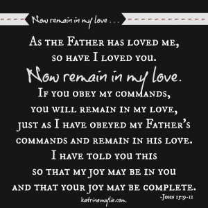 Now remain in my love ... John 15:9-11