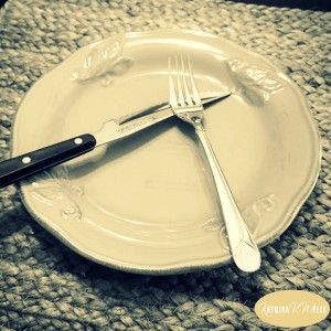 How can an empty plate lead to fullness? Are all your thoughts, actions and habits piling up and leading to false food ... false fullness? Come share in some soul stirrings, some truth and encouragement from our Lord, about coming to His table with empty plates. | A new blog post by Katrina V. Wylie